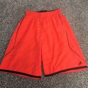 Adidas neon orange Crazylight shorts
